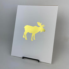 Load image into Gallery viewer, Gold Moose Art Print