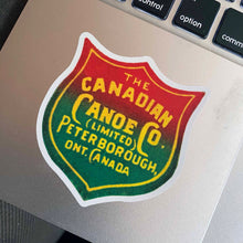 Load image into Gallery viewer, Canadian Canoe Company Sticker on a Laptop