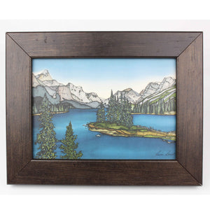 Lake & Mountains Wood Frame 173
