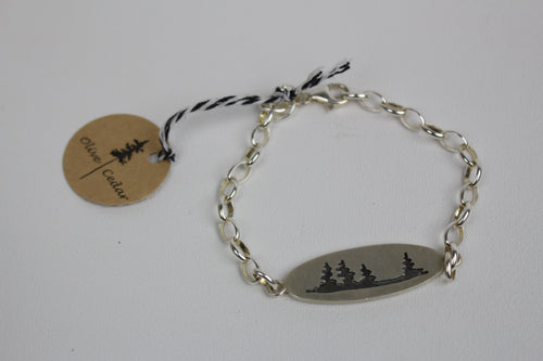 Pine Forest Small Link Bracelet