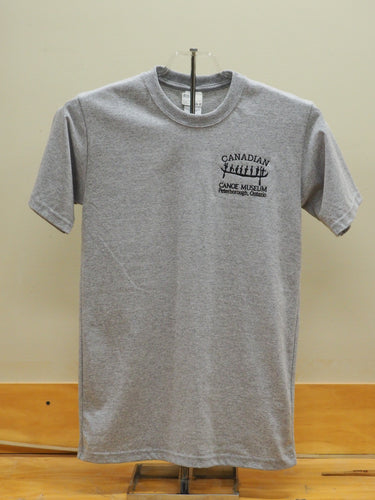 Grey pictograph logo shirt
