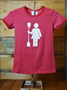 Kayak Paddle Woman T-Shirt