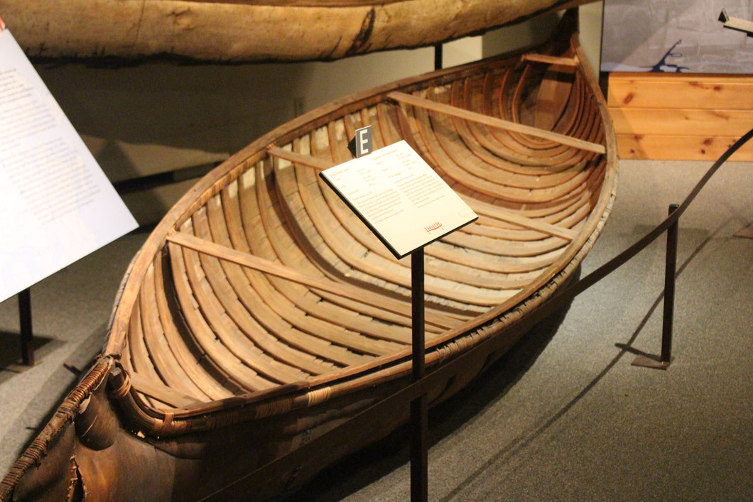 Ojibway Long-Nose Birch Bark Canoe - ADOPTED