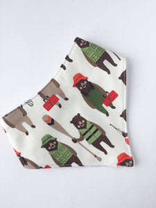 Fishing Bears Bandana Bib