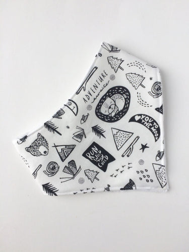 Adventure Awaits Bandana Bib