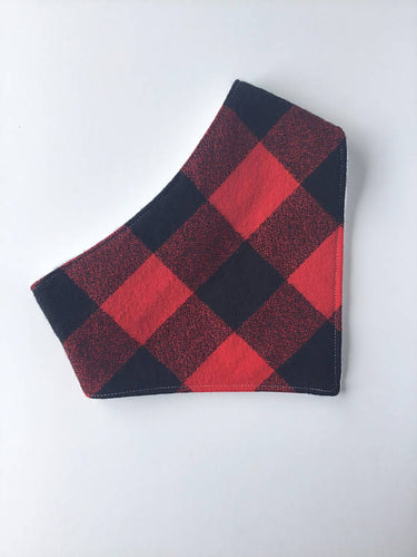 Flannel Buffalo Plaid Bandana Bib