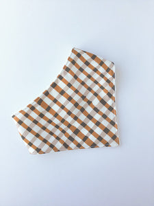 Brown Plaid Bandana Bib