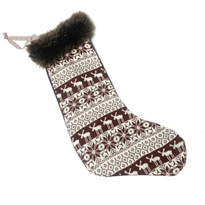 Woodland Knit Stocking