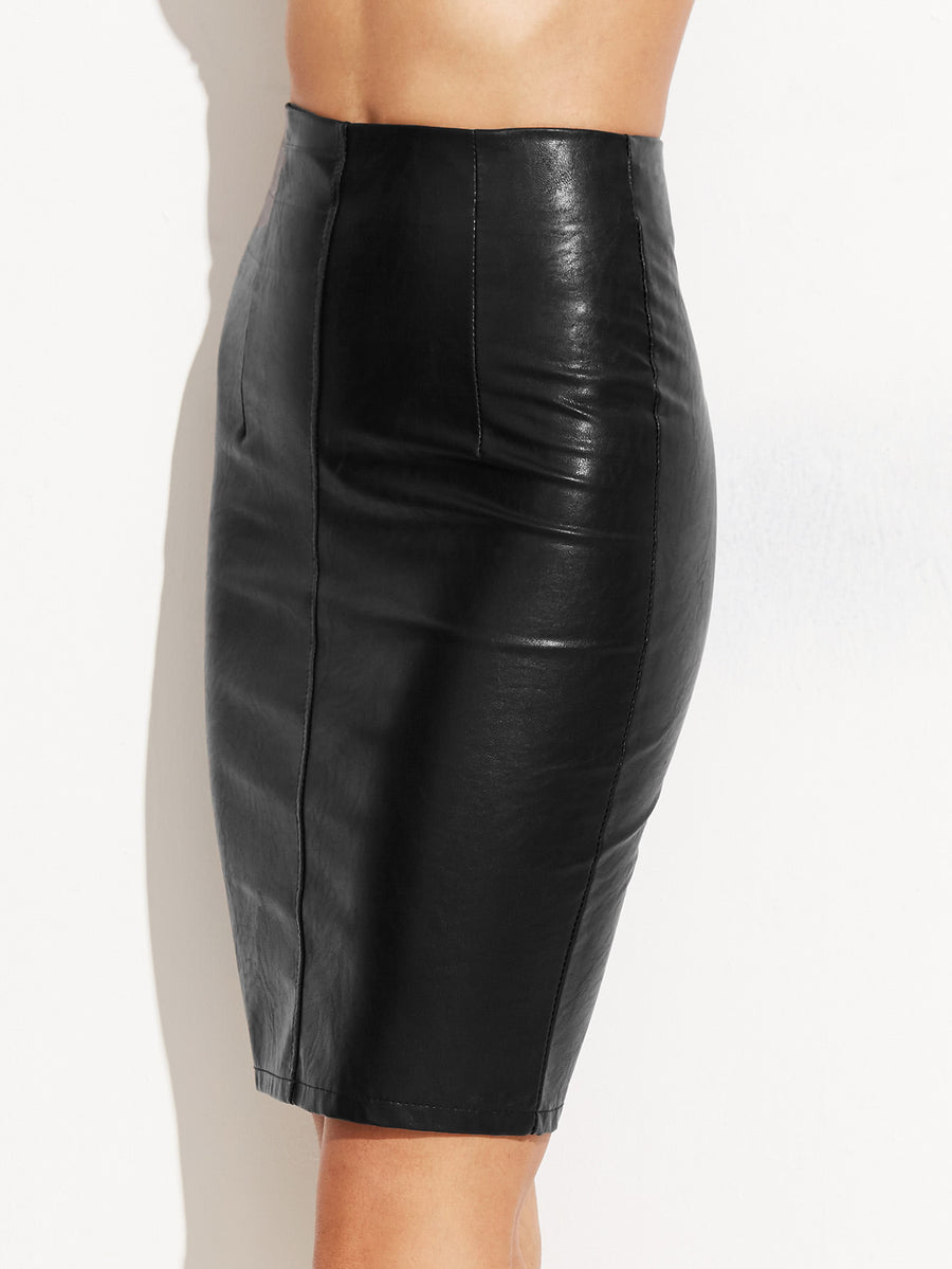 Leather Skinny Skirt