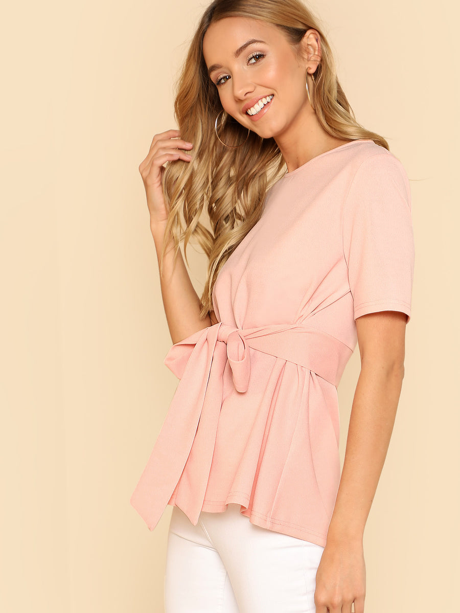 Self Belt Keyhole Back Solid Top - Hera Legacy