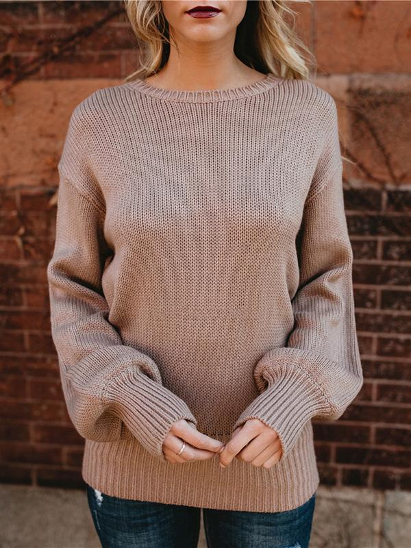Open Back Bow Tie Knitted Sweater - Hera Legacy
