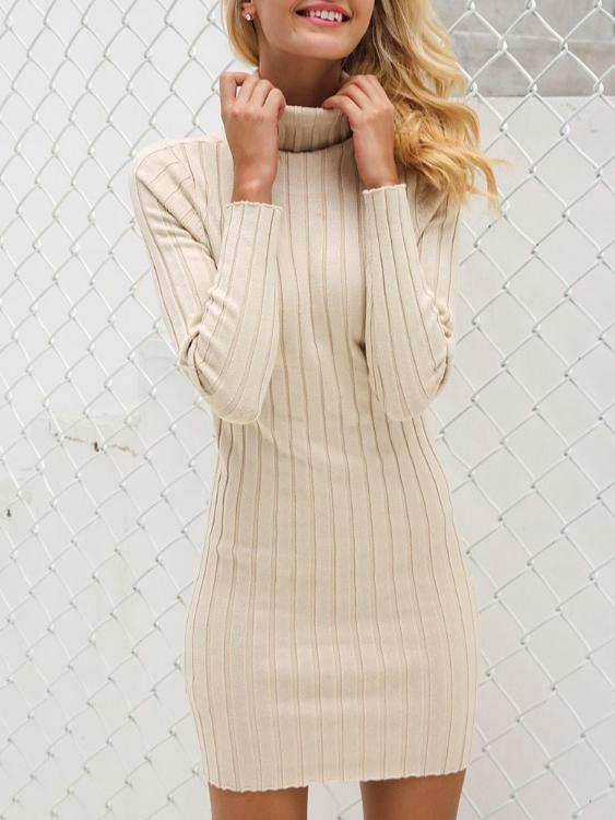 Turtleneck Knitted Mini Dress - Hera Legacy