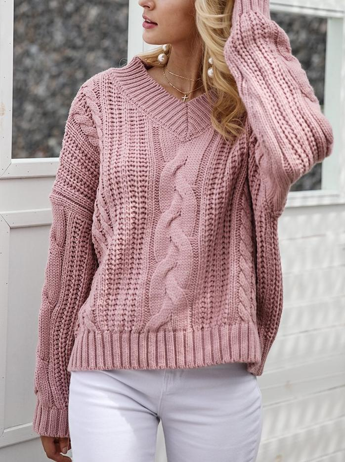 V-neck Soft Knitted Sweater - Hera Legacy