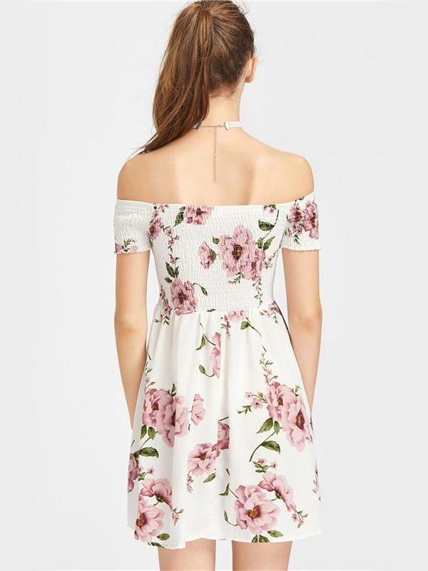 Floral Off Shoulder Mini Dress - Hera Legacy