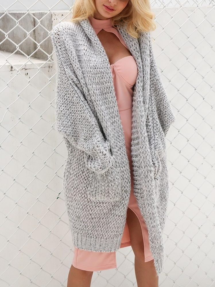 Thick Long Knitted Cardigan - Hera Legacy
