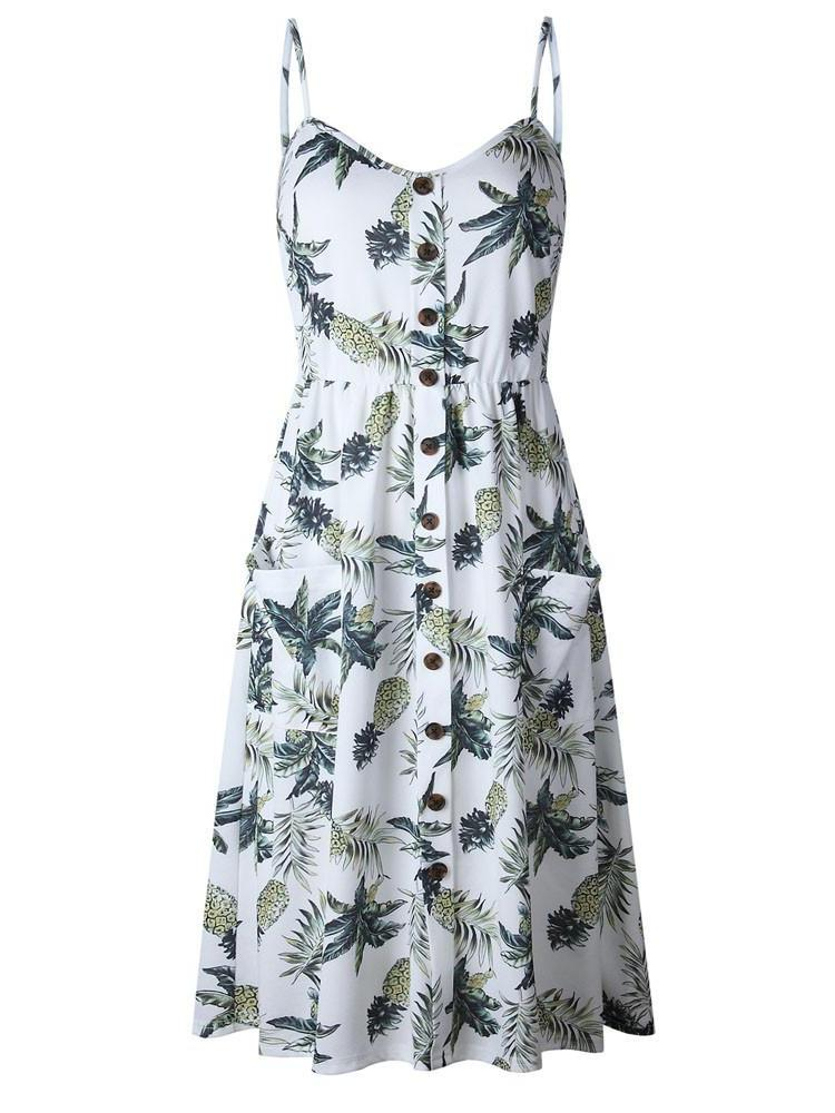 Pineapple Print Cami Dress - Hera Legacy