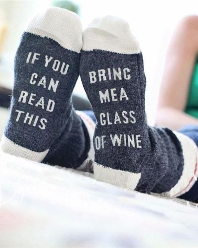 If You can read this, Bring Me a Glass of Wine - Socks - Hera Legacy