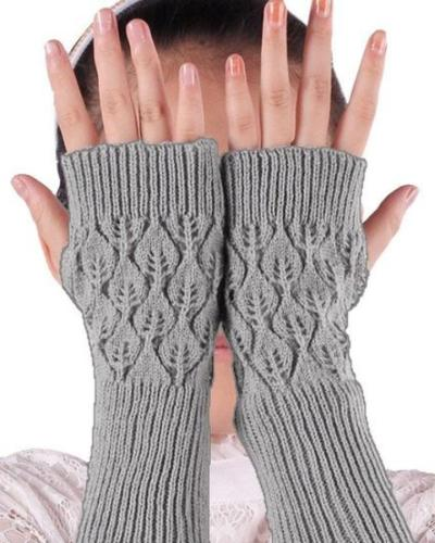 Gloves Arm Fingerless Knitted Mittens