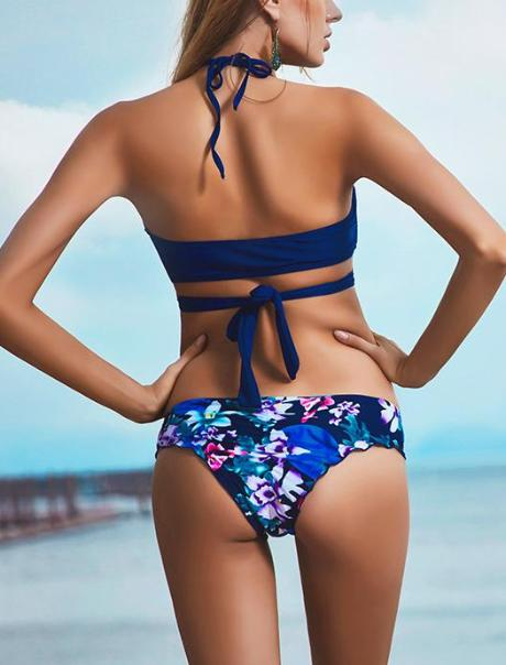 Print Cross Push Up Bikini