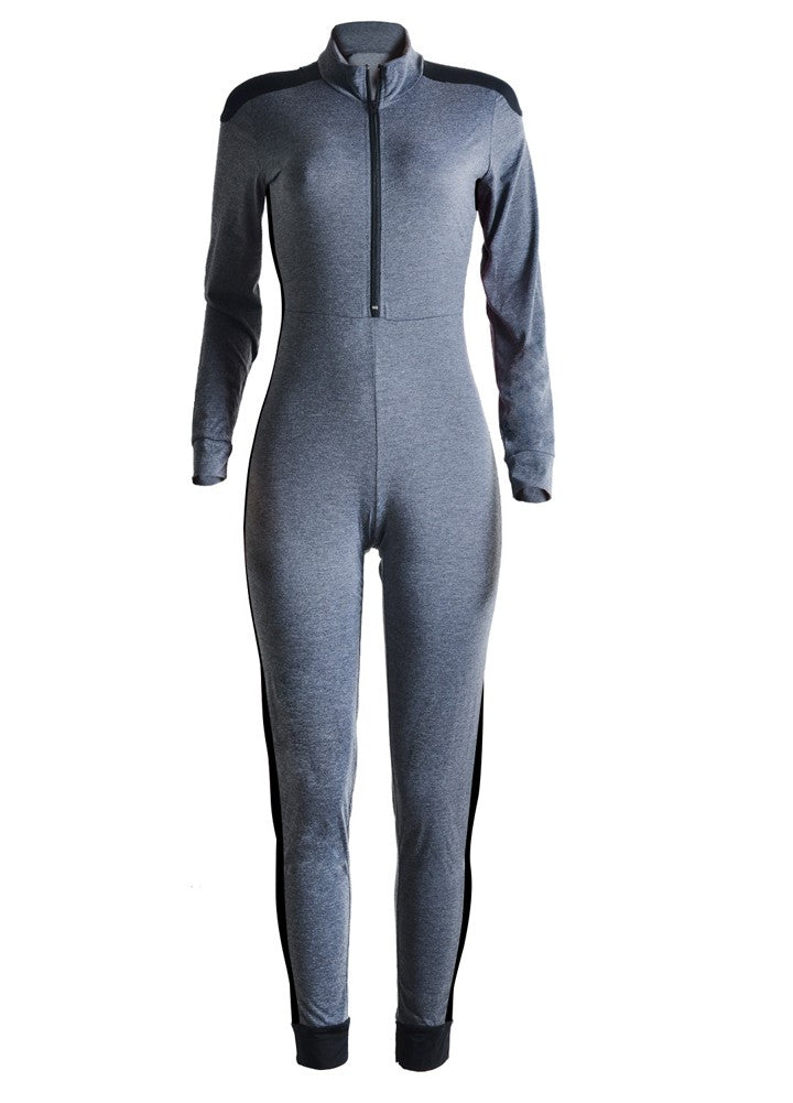 Long Sleeve Sports Jumpsuit