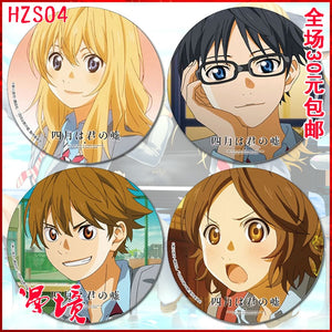 1pcs Your Lie in April Badges - Kawainess
