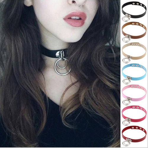 Harajuku Handmade Sexy O-Round Collar Punk Rock Gothic Choker Necklace Belt