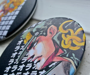2pcs/set JoJo's Bizarre Adventure 75mm Pin Badges - Kawainess
