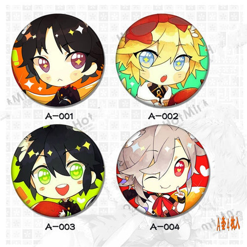 4pcs/set 2.6inch Anime Badge Seraph Of The End Badges