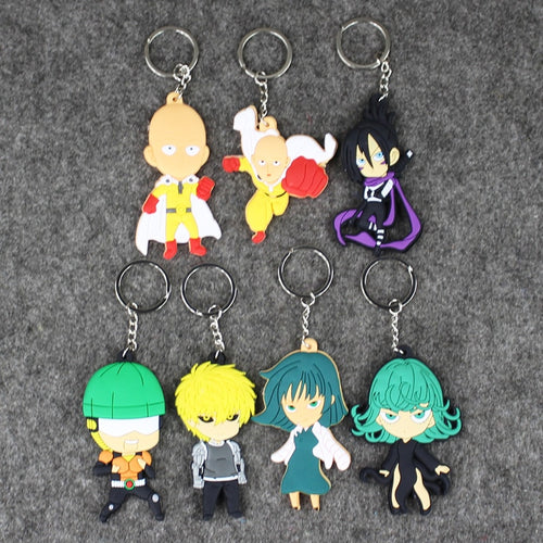 7pcs/lot ONE PUNCH-MAN  Keychain 7-8.5cm