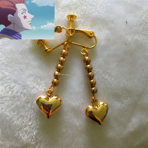 Anime Earring HUNTER x HUNTER Hisoka  Heart Cosplay Costume Prop