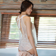 Anime Lingerie Sexy Sheer Embroidery Lace Mesh Nightdress - Kawainess