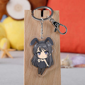 Rascal Does Not Dream of Bunny Girl Senpai Sakurajima Mai Keyrings