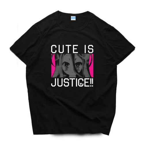 Anime NO GAME NO LIFE  T-shirt Cute Is Justice