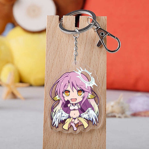 NO GAME NO LIFE Keychains transparent double-side