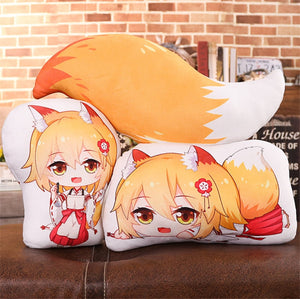 Anime Plush Pillows Sewayaki kitsune no senko-san  Double Sided Pillow