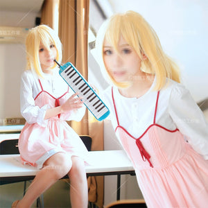 Your Lie in April Kaori Miyazono First episode Adult Pink Dress Outfit