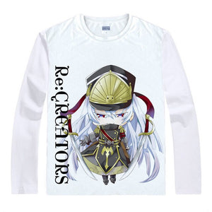 Re:CREATORS T-Shirts Long Sleeve Altair Military Uniform Princess