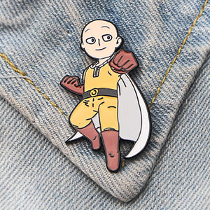 ONE PUNCH-MAN Funny Pin Art Enamel Pins