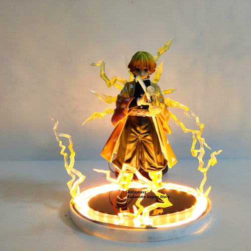 Demon Slayer Agatsuma Zenitsu PVC Action Figures Thunderclap and Flash Effect
