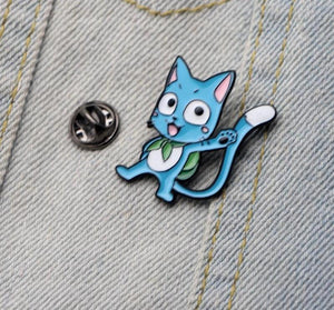 Fairy Tail Cute Happy Brooch Metal Badge