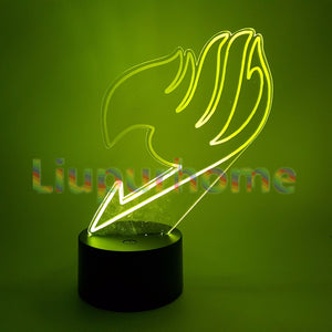 FAIRY TAIL 3D Night lights Visual Illusion LED