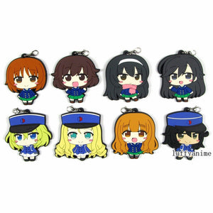 Girls und Panzer GIRLS and PANZER Rubber pendant Keychain