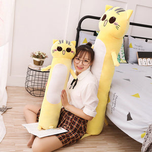 90-165cm Large Size Toys Cute Yellow Cat Anime Plush - Kawainess