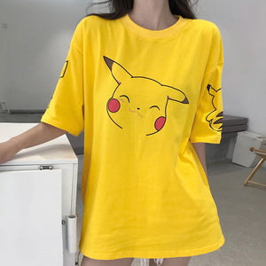 Harajuku Kawaii Pikachu Yellow Cute Tshirt