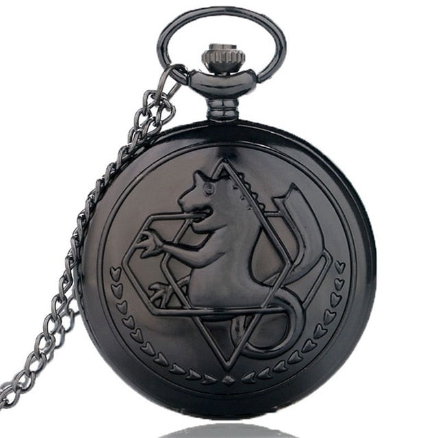 Full Metal Alchemist Silver Watch Pendant Necklace