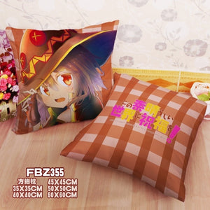 Two sided Square Throw Pillow Cover Cases KonoSuba  Dakimakura Cover