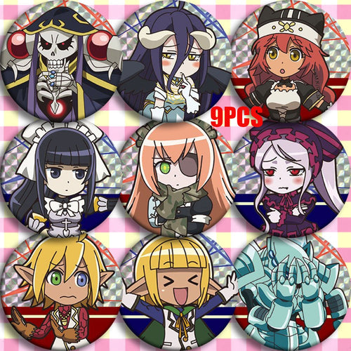 Japan Anime Overlord Ainz Ooal Gown Albedo Cosplay Party Badges