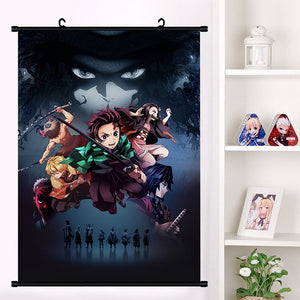 Demon Slayer: Kimetsu no Yaiba Kamado Tanjirou Kamado Nezuko Wall Scroll Poster