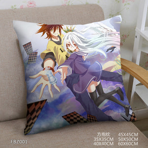 Two Sided Square Pillow Case NO GAME NO LIFE Dakimakura Pillowcase