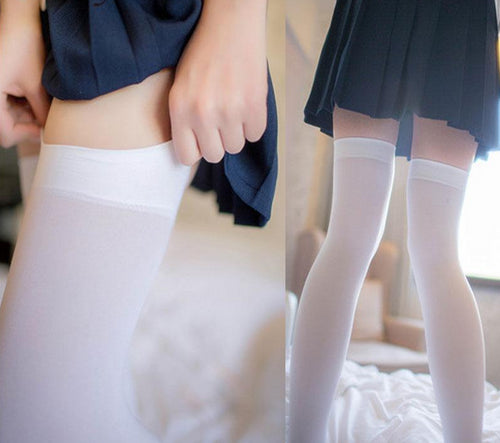 Japanese Lolita Velvet Stockings Maid Thigh Socks